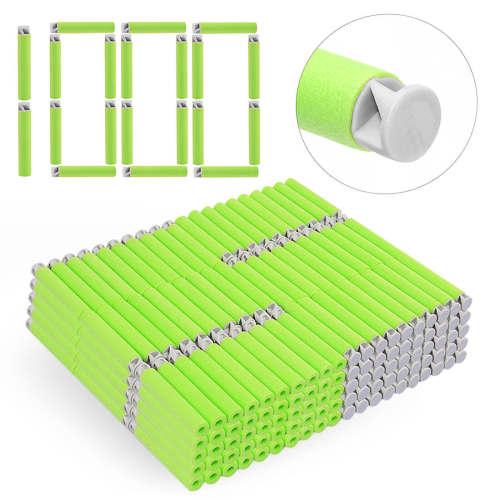 1000pcs Dart Refills Flat Soft Head Foam Bullets for Nerf 7.4cm x1.3cm -Green