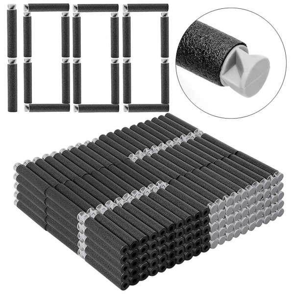 1000pcs Dart Refills Flat Soft Head Foam Bullets for Nerf 7.4cm x1.3cm -Black