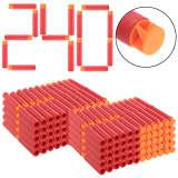 60Pcs Whirlwind Head Soft Bullet for Nerf Mega Blaster Toy - Orange Head Red Sponge