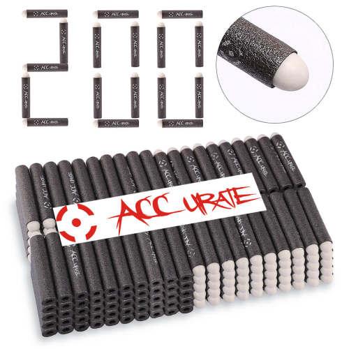 200pcs Soft Bullet Round Head Foam Bullets for Nerf N-strike Elite Series