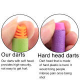 High Buffered Soft Bullet Flat Head Soft Darts for Nerf - Orange Head + Light Green Sponge