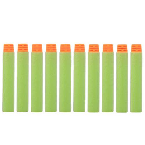 High Buffered Soft Bullet Flat Head Soft Darts for Nerf - Orange Head + Light Green Sponge