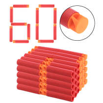 60Pcs Whirlwind Head Soft Bullet for Nerf Mega Blaster Toy - Orange Head Red Sponge
