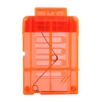 Long Bullet Cartridge Holder Bullet Clip with 6Pcs Loops for Nerf - Transparent Orange Orange