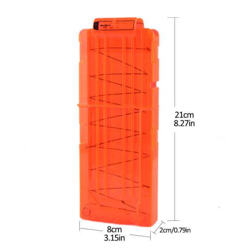 Soft Bullet Clips For Nerf N-strike Elite Series 12 Bullets Ammo Cartridge Dart Nerf Bullet Clips - Transparent Orange