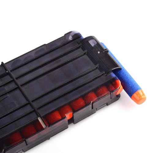 Soft Bullet Clips For Nerf N-strike Elite Series 12 Bullets Ammo Cartridge Dart Nerf Bullet Clips - Transparent Black
