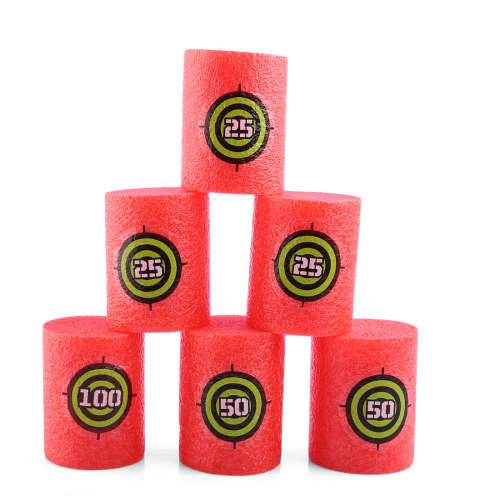 6 Pcs Soft Bullet Shoot Dart Target for Nerf Scoring Kid Toy