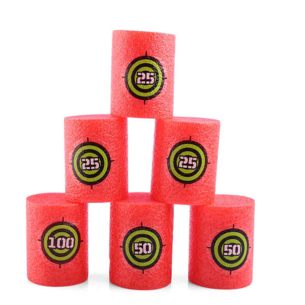 6 Pcs Soft Bullet Shoot Dart Target for Nerf Scoring Kid Toy