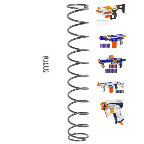 7KG Modified Steel Spring for Nerf N-Strike Elite Series - Black