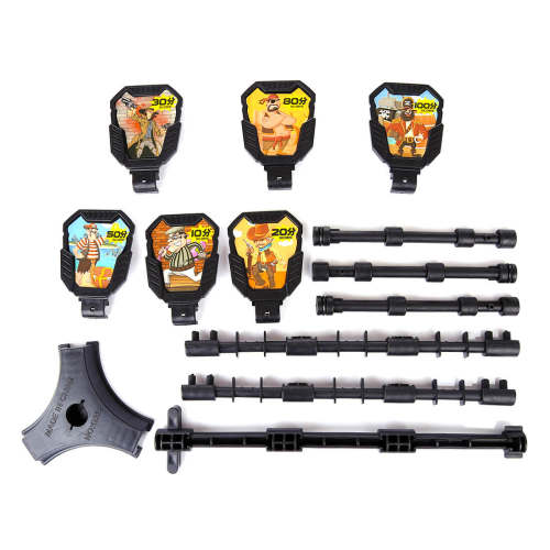 6Pcs Hunting Shooting Targets with Stickers and Bracket for Nerf Foam Dart Blasters Practice