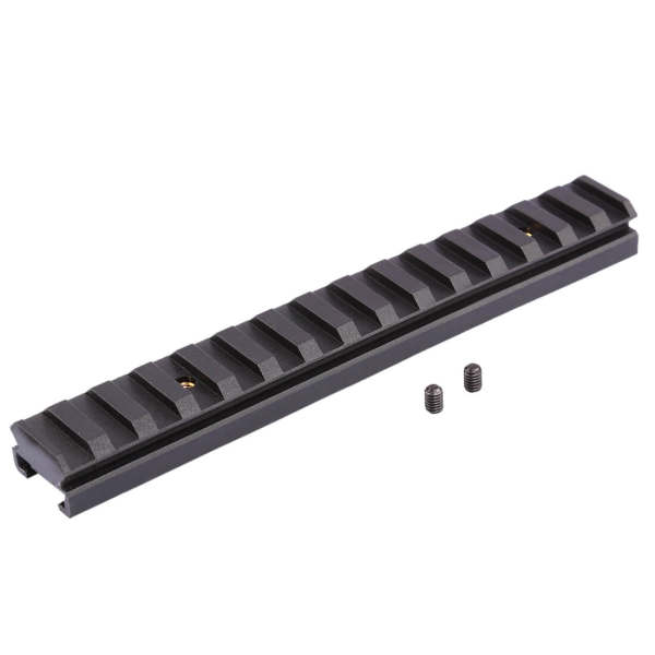 Worker 15CM Nylon Grooved Top Rail Mount Kit for Nerf with Track - Black