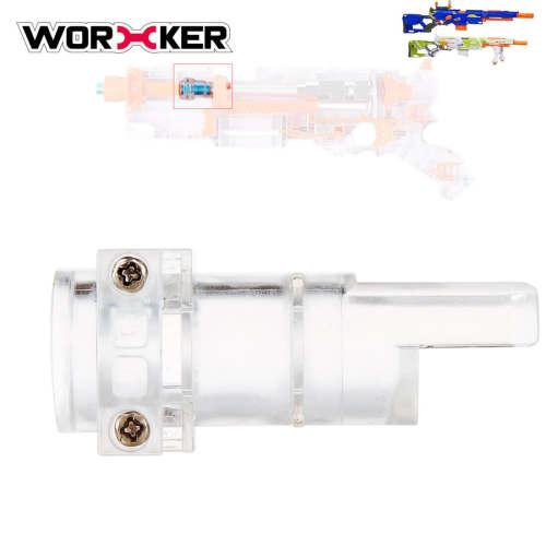 WORKER Universal Connector Adapter for NERF CS-6 LONGSTRIKE / NERF Modulus Longstrike - Transparent