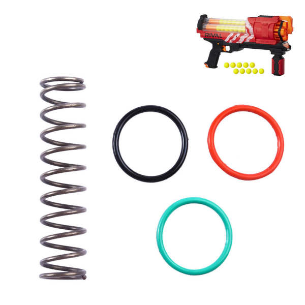 15kg Upgraded Spring for Nerf Rival Artemis XVII-3000 Red - Silver Black