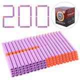 200Pcs Soild Soft Bullets Foam Bullets for Nerf - Orange Hardhead Yellow Sponge