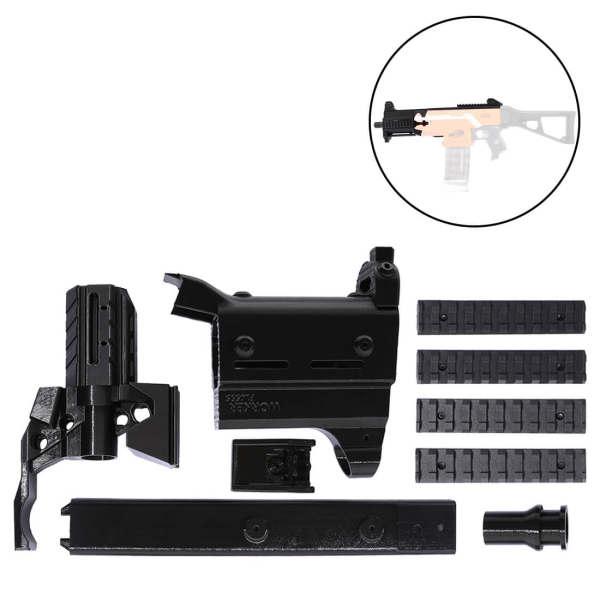 Worker f10555 3D Printing Modularized NO.171 front barrel Kit for Nerf Stryfe - Black