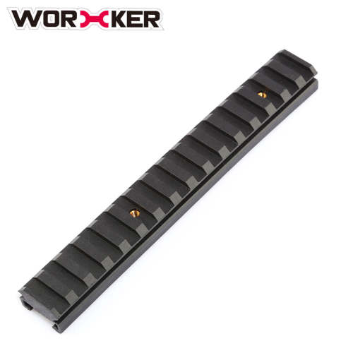 Worker 16CM Nylon Grooved Top Rail Mount Kit for Nerf with Track - Black