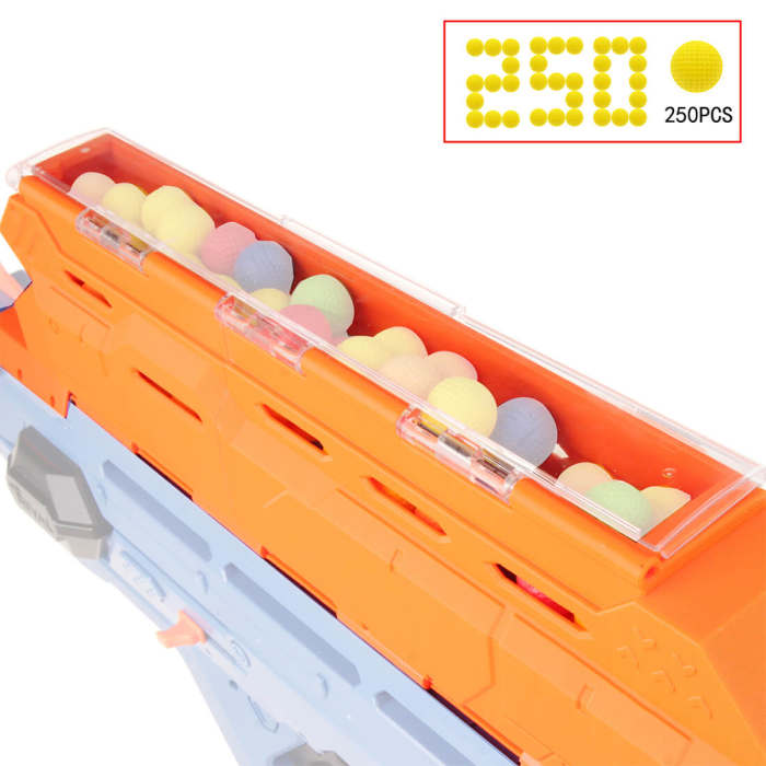 Worker No.2210 Increase Capacity Magazine Ball Cage for NERF RIVAL/Perses MXIX-5000 - Orange
