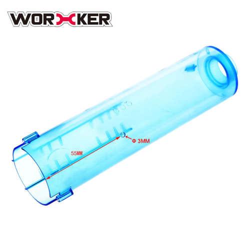 Worker Plunger Tube for Nerf N-Strike Longshot CS-6 and Nerf Zombie Strike Longshot CS-12 - Tansparent Blue