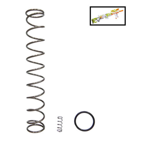 7kg/9kg/12kg Upgrade Spring for Nerf Modulus Longstrike - Silver Black