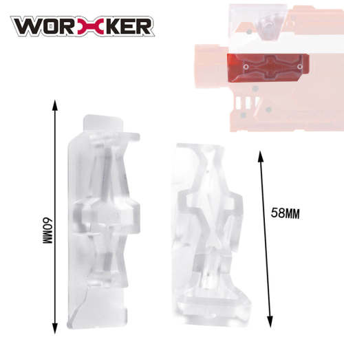 Worker Side Rail Adapter Base for Nerf Stryfe - Transparent