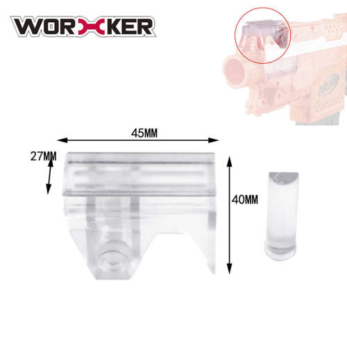 Worker Top Rail Adapter Base for Nerf Stryfe - Transparent