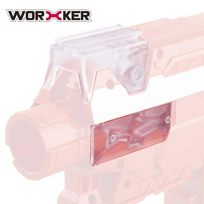 Worker Side Rail Adapter Base for Nerf Stryfe - Transparent