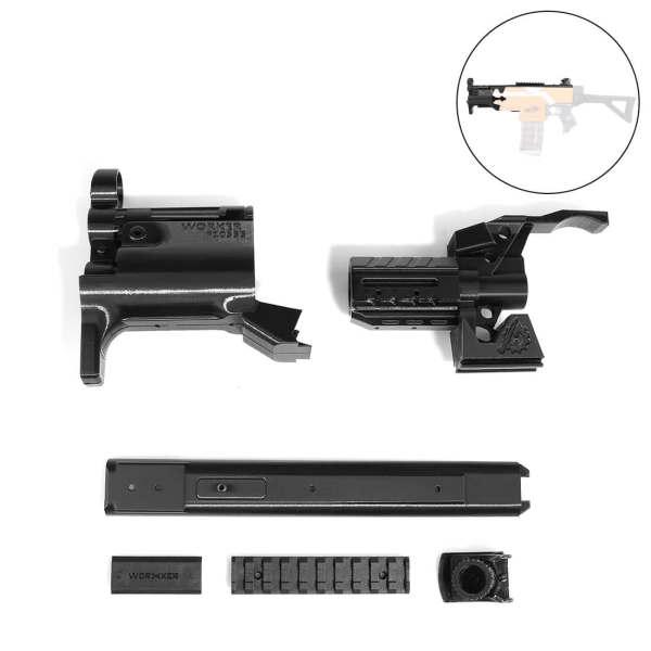 Worker f10555 3D Printing Modularized NO.114-K front barrel Kit for Nerf Stryfe - Black