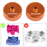 2Pcs Worker Aluminum Flywheel for Nerf STF/CS-18(Diamond Pattern)