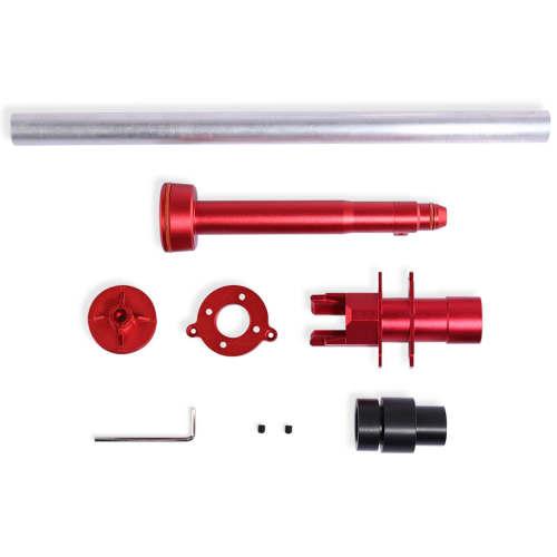 Artifact Mod Works Aluminum Alloy Modified Kit for Jet Blaster X Zeus 2 Longshot Shell Nerf Mod - Red