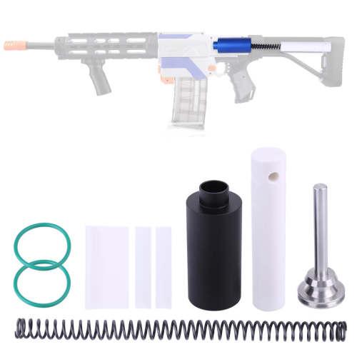 Large Metal Cylinder + 16KG Spring + Cylinder Push Rod Kit for Nerf Retaliator Toy