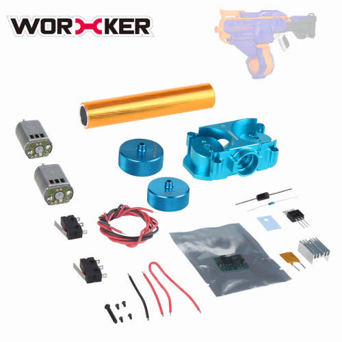 Worker Infinus Metal Flywheel Set for Nerf N-Strike Elite Infinus - Blue