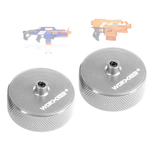WORKER Diamond Pattern Flywheel for NERF STRYFE / WORKER Swordfish / WORKER Flywheel Cage - Silver