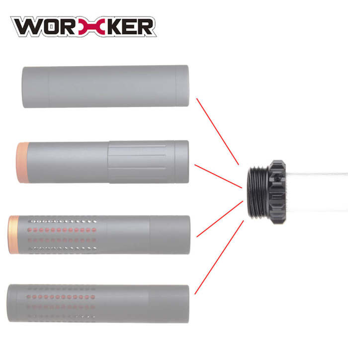 Worker Phantom Short Dart Connector for Connecting 19mm Accurate Barrels and Threaded Barrels Decorator