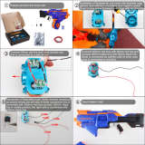 Worker Infinus Metal Flywheel Set for Nerf N-Strike Elite Infinus - Blue