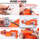 Worker Modified Flywheel Set Toy Accessories for Nerf STF/CS-18(Power Type) - Red Silver