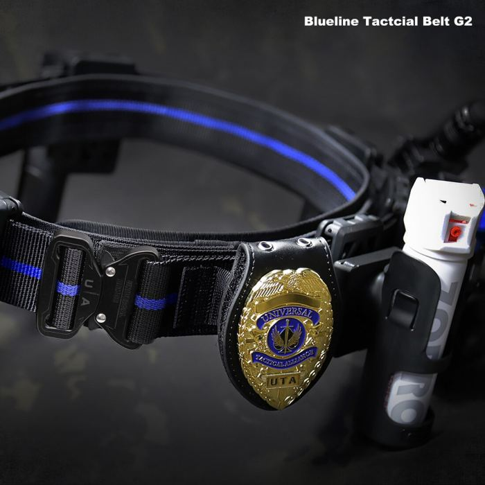 UTA Thin Blue Line Belt Universal Quick Reverse UA Armoured Tactical Belt