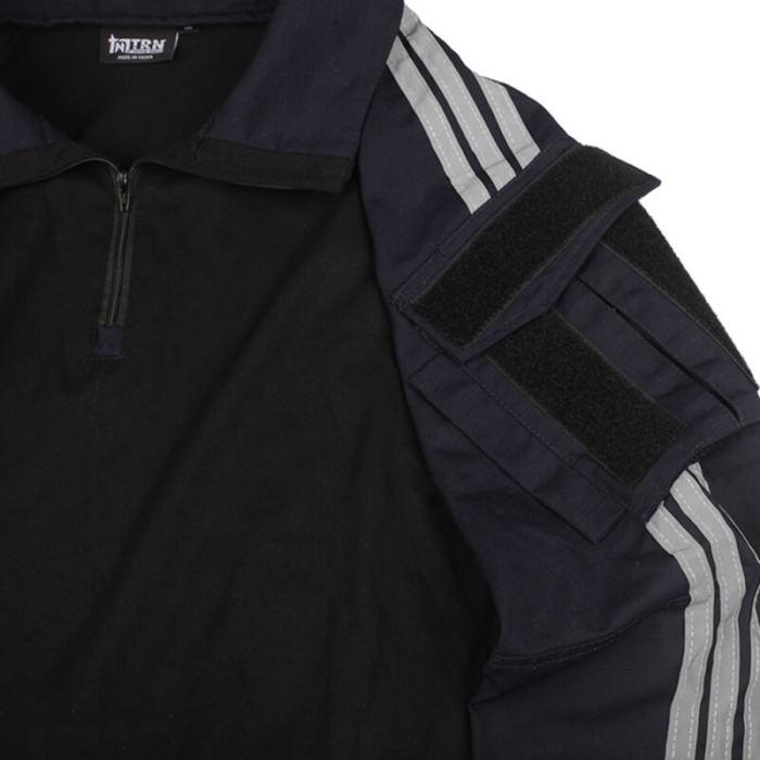 BACRAFT TRN Tactical Long Sleeve Combat Frog Shirt -Navy Blue