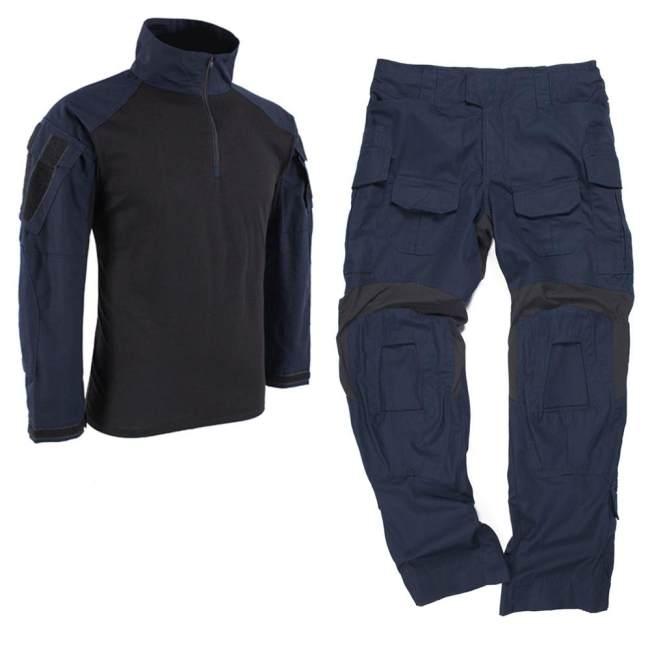 BACRAFT TRN GEN3 BDU Tactical Combat Uniform Suit -Police Blue