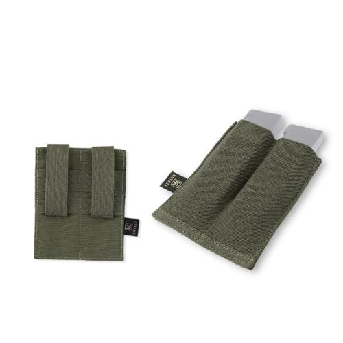 Krydex Tactical 9mm Double Mag Pouch Top 45 Pistol MOLLE Pouch