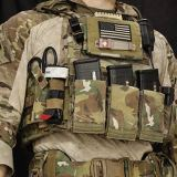 Krydex 556 Tactical Elastic MOLLE Triple Mag Pouch