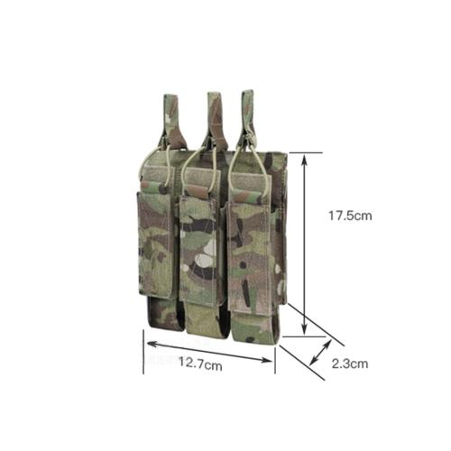 Krydex Tactical Modular MOLLE Triple Mag Pouch for MP7 KRISS MP5