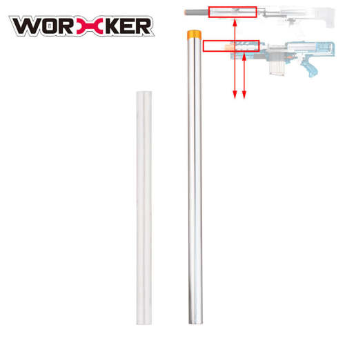 368mm Accurate Barrels Modification Kit for Nerf N-Strike Longshot CS-6 / NERF Zombie Strike Longshot CS-12 / Worker Terminator