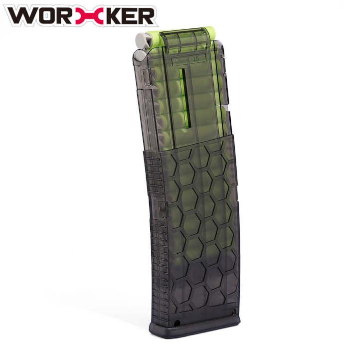 Worker Honeycomb HEX Soft darts Clips 15 long darts Ammo Cartridge Dart Clips For Nerf N-strike Elite Series