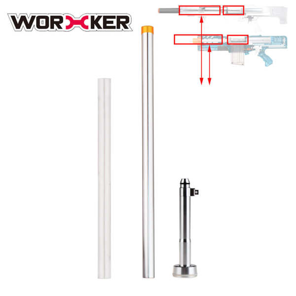 Short Darts Modification Kit for Nerf N-Strike Longshot CS-6 / NERF Zombie Strike Longshot CS-12 / Worker Terminator