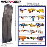 Worker 22 Bullets AK Model Curve Soft Bullet Clip Ammo Cartridge Dart Clip for Nerf