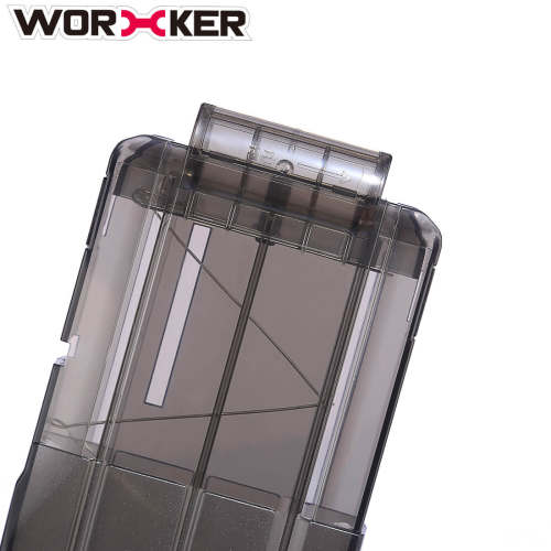 Worker 22 Bullets AK Model Curve Soft Bullet Clip Ammo Cartridge Dart Clip for Nerf