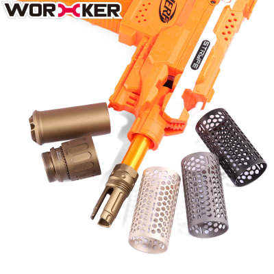 Worker QDC Aluminum Alloy Front Tube Decorator & Triden Decorative Cap with Connector for Nerf