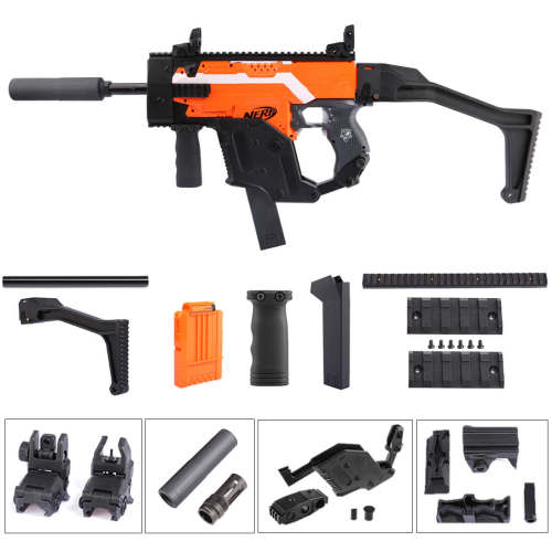 Worker kriss vector Cover Standard Version Modified Kit for Nerf Stryfe - Black