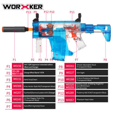 Worker Swordfish Semi-automatic Short Sword Shape Foam Darts Blaster