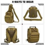 IDOGEAR Tactical Military Sling Molle Bags Packs